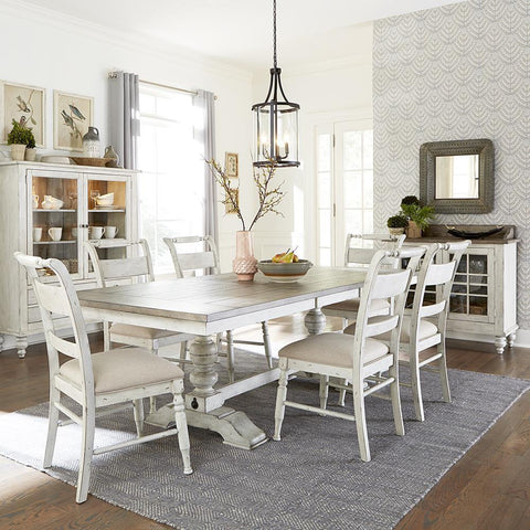Liberty Whitney 7 Piece Trestle Table Set