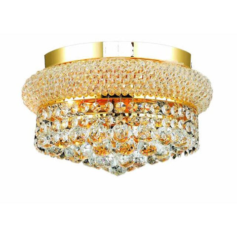 Lighting By Pecaso Adele Collection Flush Mount D12in H6in Lt:4 Gold Finish