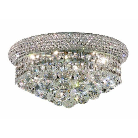Lighting By Pecaso Adele Collection Flush Mount D14in H8in Lt:6 Chrome Finish