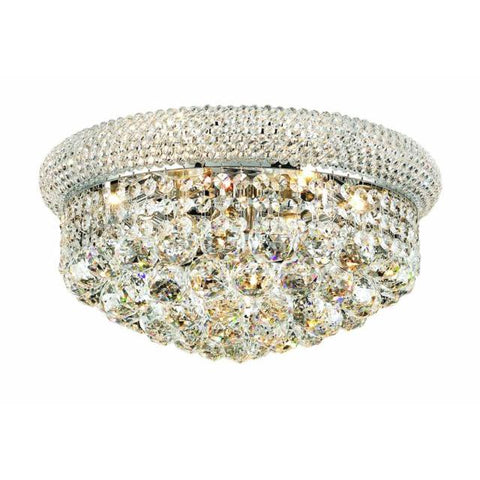 Lighting By Pecaso Adele Collection Flush Mount D16in H8in Lt:8 Chrome Finish