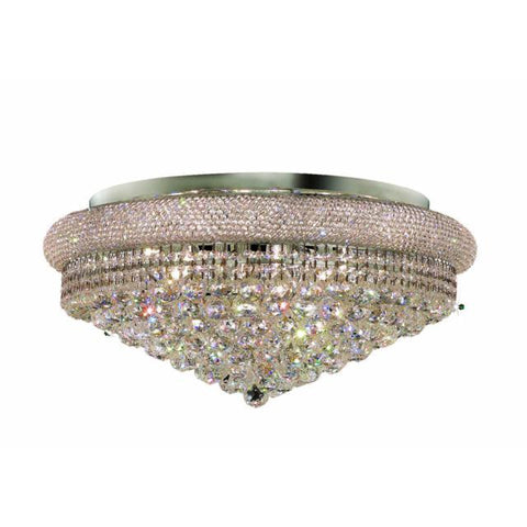 Lighting By Pecaso Adele Collection Flush Mount D28in H13in Lt:15 Chrome Finish