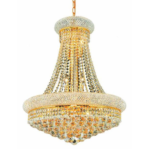 Lighting By Pecaso Adele Collection Hanging Fixture D24in H32in Lt:14 Gold Finish