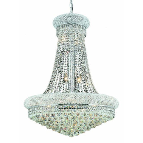 Lighting By Pecaso Adele Collection Hanging Fixture D28in H36in Lt:14 Chrome Finish