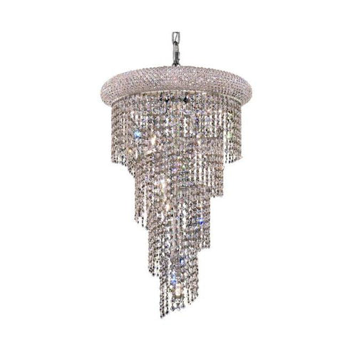 Lighting By Pecaso Adrienne Collection Hanging Fixture No Neck D16in H26in Lt:8 Chrome Finish