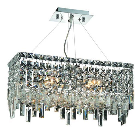Lighting By Pecaso Chantal Collection Hanging Fixture L20in W10in H10.5in Lt:4 Chrome Finish