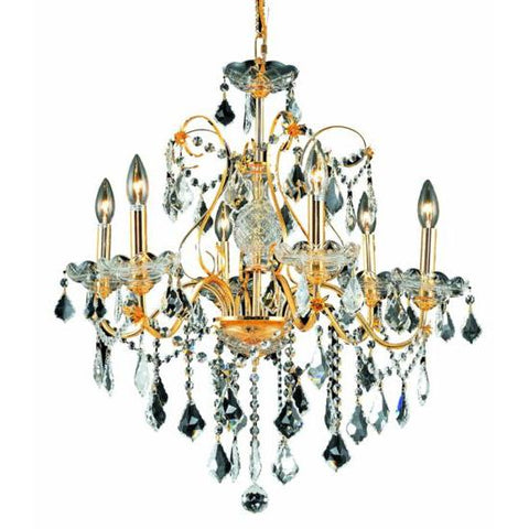 Lighting By Pecaso Christiane Collection Hanging Fixture D24in H21in Lt:6 Gold Finish
