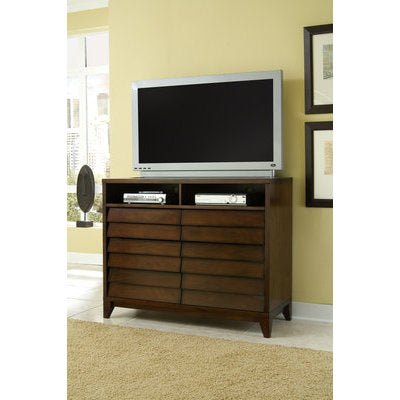 Ligna Canali Collection 6 Drawer Entertainment Chest