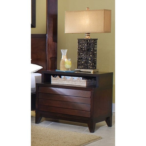 Ligna Canali Collection Night Table- Two Drawers removable top shelf