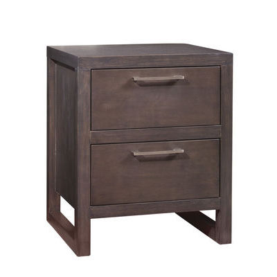 Ligna Tribeca Collection 2 Drawer Nightstand in Graphite