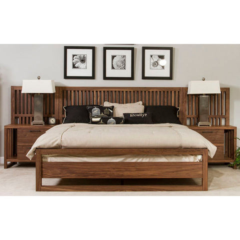 Ligna Tribeca Collection Panel Bed in Graphite