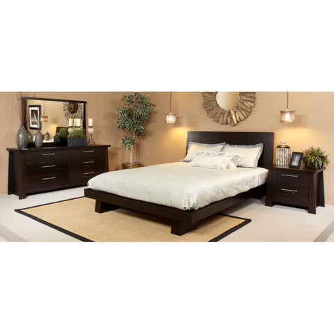 Ligna Zen Collection 4 Piece Bedroom Set in Ebony