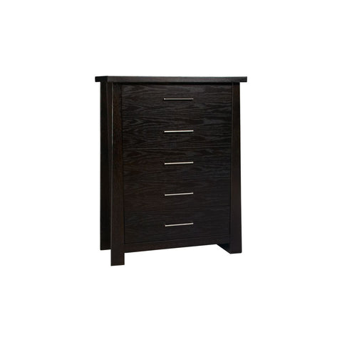 Ligna Zen Collection 5 Drawer Chest in Ebony