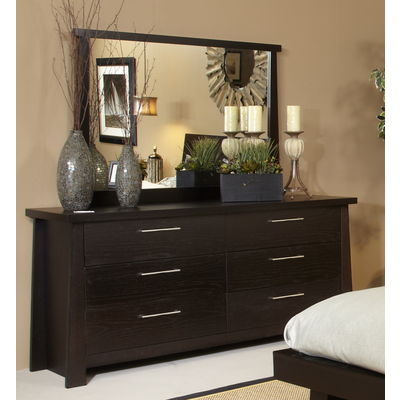 Ligna Zen Collection Dresser & Mirror in Driftwood
