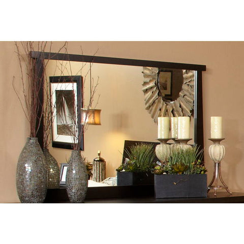 Ligna Zen Collection Landscape Mirror in Ebony