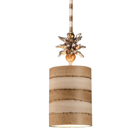 Lucas & McKearn Anemone II Small Pendant Stripe Shade Whimsical Island Kitchen Lighting Fixture