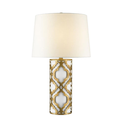 Lucas & McKearn Arabella Flambeau Inspired Distressed Living Buffet Table Lamp - Gold