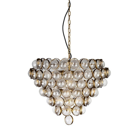 Lucas & McKearn Bouquet Textured Glass Antiqued Finish Chandelier