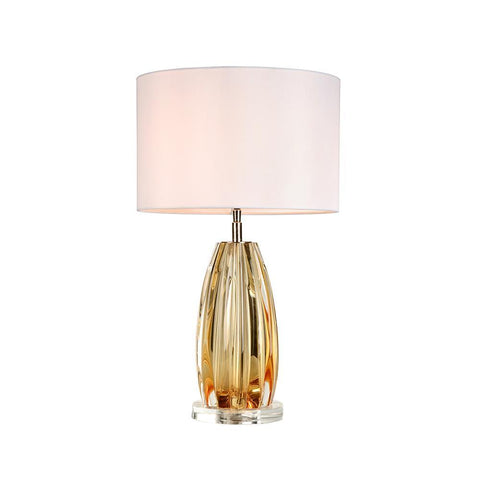 Lucas & McKearn Cognac Amber Finished Glass Accent Table Lamp