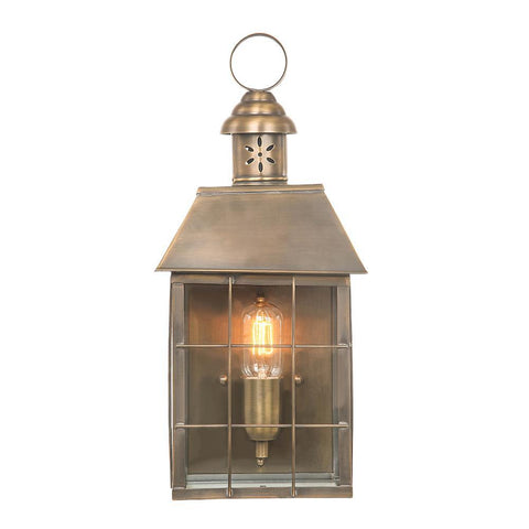 Lucas & McKearn Hyde Park Brass Outdoor Wall Lantern Porch Lighting Fixture