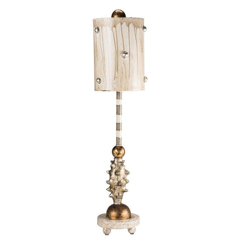 Lucas & McKearn Lucas McKearn Pome Creamy Gold and Silver Accent Table Lamp