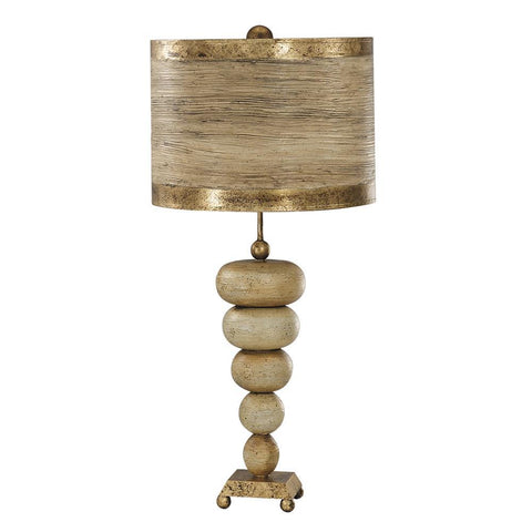 Lucas & McKearn Lucas McKearn Retro Stone Stacked Table Lamp