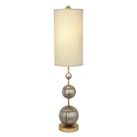 Lucas & McKearn Marie Buffet Table Lamp Classic Orb Shape with Linen Shade