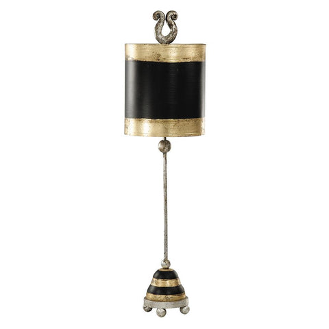 Lucas & McKearn Phoenician Black & Gold Vintage Inspired Accent Table Lamp By Lucas McKearn