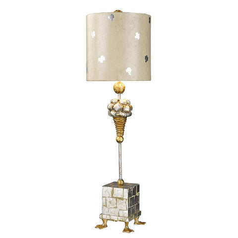 Lucas & McKearn Pompadour X Table Accent Lamp in Gold and Silver Finish
