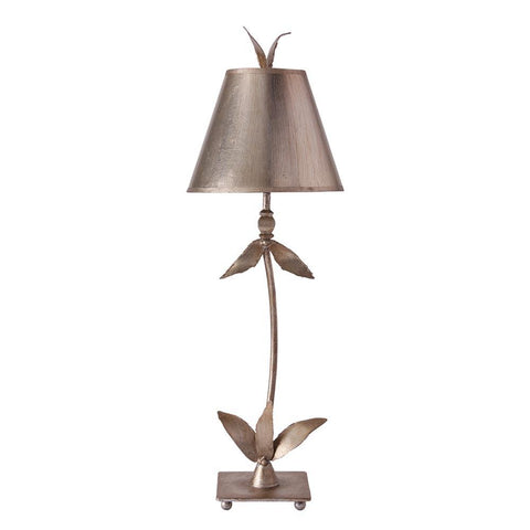Lucas & McKearn Red Bell Silver Buffet Table Lamp