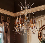 Lucas & McKearn Renaissance 5lt Mixed Finish Dressy and Charming Chandelier