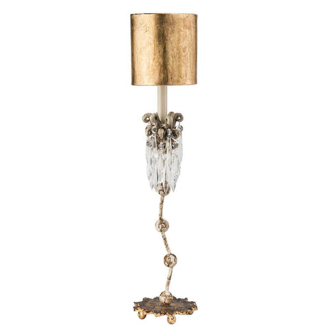 Lucas & McKearn Venetian Crystal and Distressed Finished Accent Table Lamp