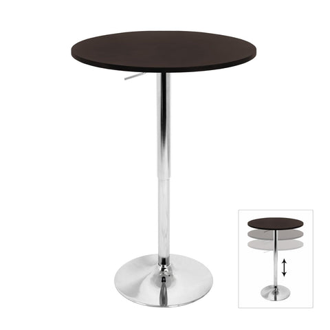 Lumisource Adjustable Bar Table In Brown