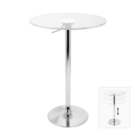 Lumisource Adjustable Bar Table In Clear