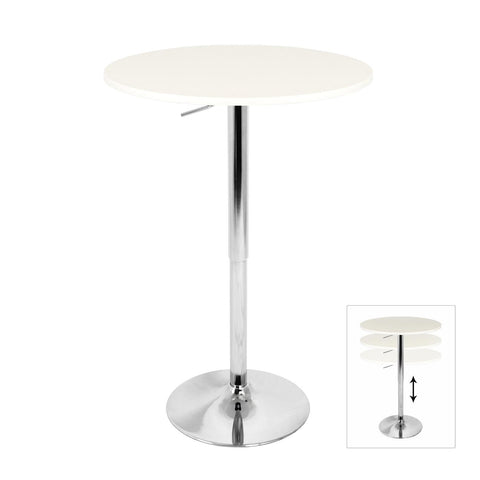 Lumisource Adjustable Bar Table In White