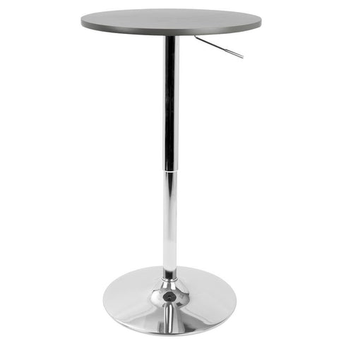 Lumisource Adjustable Contemporary Bar Table in Grey