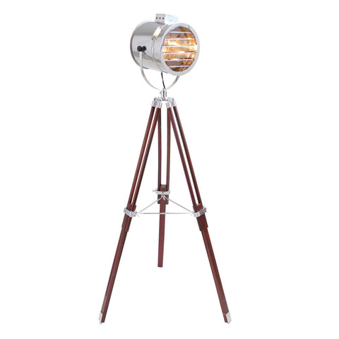 Lumisource Ahoy Floor Lamp In Chrome And Cherry