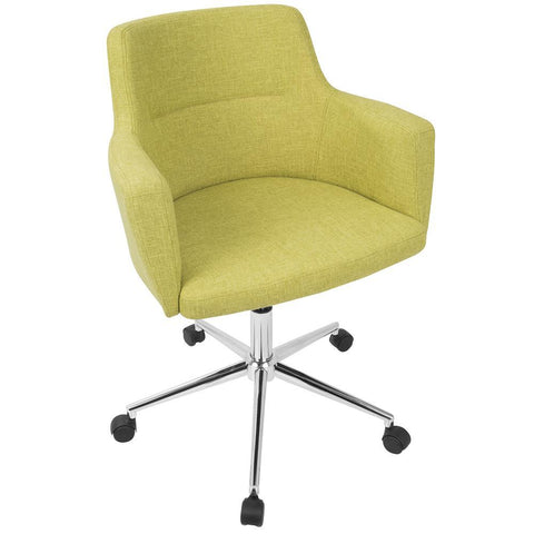 Lumisource Andrew Contemporary Adjustable Office Chair in Green