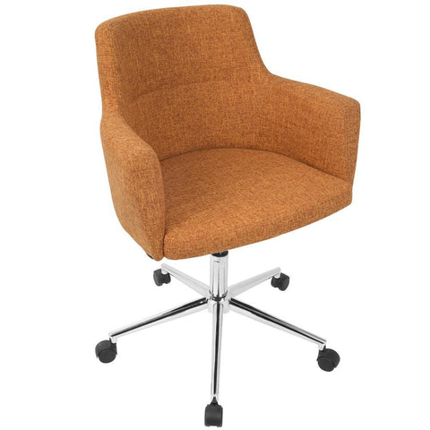 Lumisource Andrew Contemporary Adjustable Office Chair in Orange
