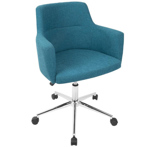 Lumisource Andrew Contemporary Adjustable Office Chair in Teal