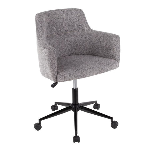 Lumisource Andrew Contemporary Office Chair in Dark Grey Fabric