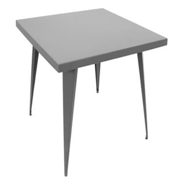 "Lumisource Austin Dining Table 32"" X 32"" In Matte Grey"