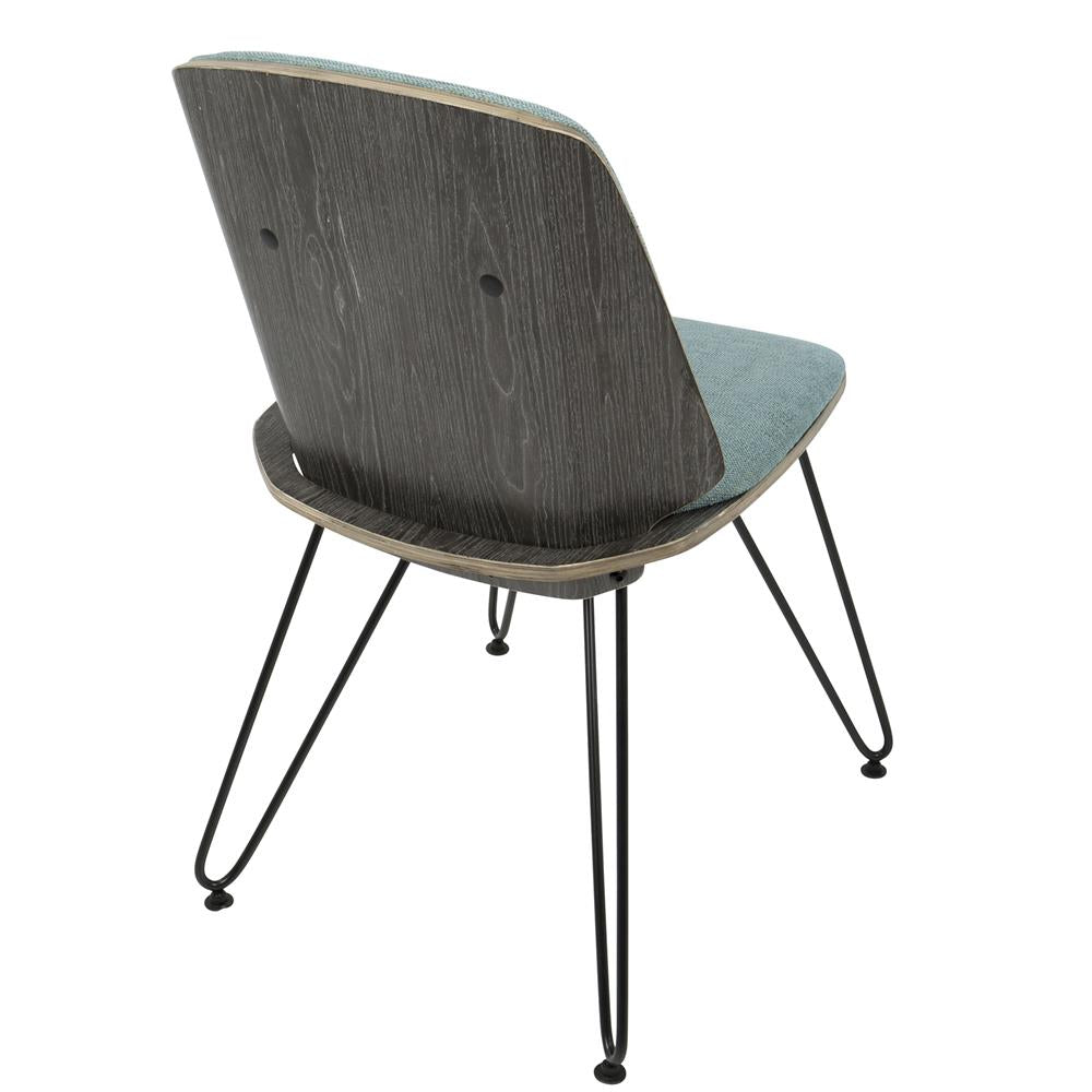 Lumisource avery mid century modern dining accent chair in - Dark teal accent chair ...