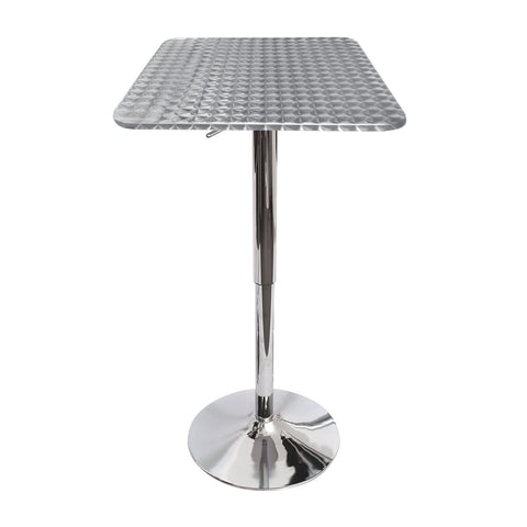 Lumisource Bistro Bar Table In Silver Swirl