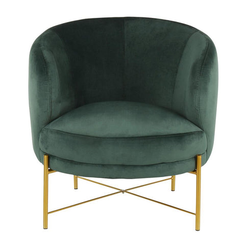 Lumisource Chloe Contemporary Accent Chair In Gold Metal