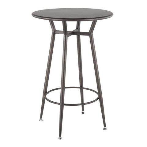 Lumisource Clara Industrial Round Bar Table in Antique Metal