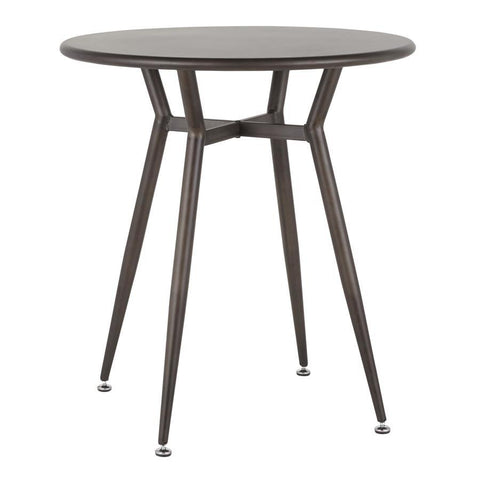 Lumisource Clara Industrial Round Dinette Table in Antique Metal