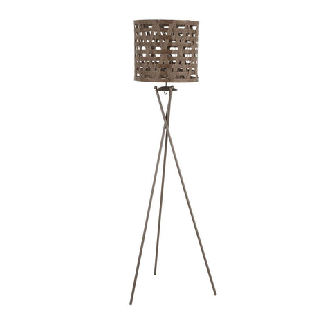 Lumisource Corbin Contemporary Floor Lamp in Brown Metal with Brown Shade