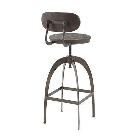 Fabulous Lumisource Dakota Industrial Mid Back Barstool In Antique Gmtry Best Dining Table And Chair Ideas Images Gmtryco