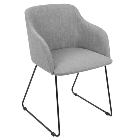 Lumisource Daniella Contemporary Dining/Accent Chair in Light Grey - Set of 2