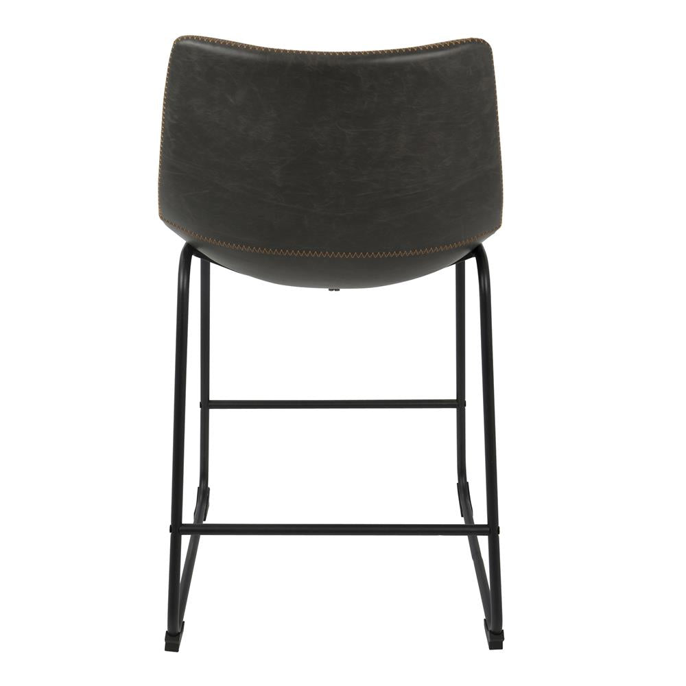 Lumisource Duke 26 Quot Industrial Counter Stool In Black With